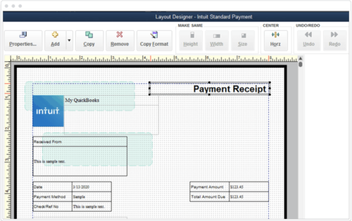 Customize Payment Receipts QuickBooks